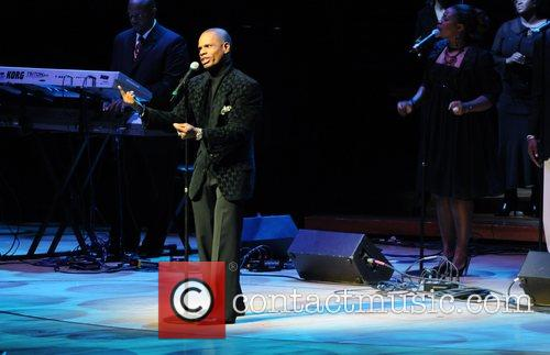 Kirk Franklin performs 2008 Marian Anderson Awards at...