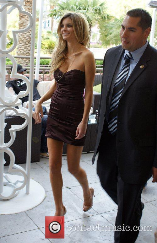 Marisa Miller leaving the Mirage Hotel after an...