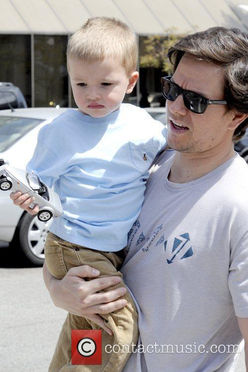 Mark Wahlberg takes his son to Tom's Toys...