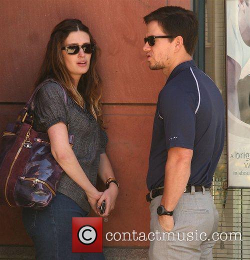 Mark Wahlberg and Rhea Durham leaving a medical...