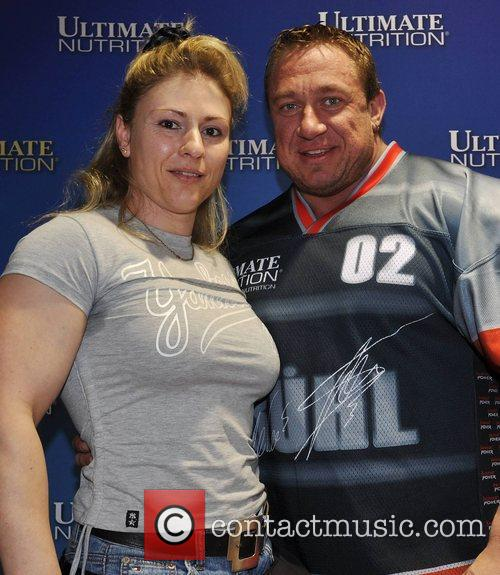 German professional bodybuilder Markus Ruhl promotes 'Ultimate Nutrition'...