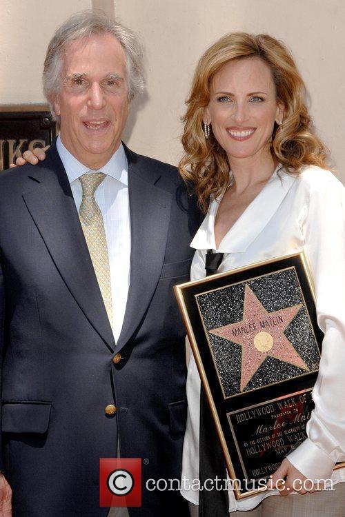 Henry Winkler and Marlee Matlin