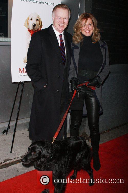 Chuck Scarborough and wife with their dog Oliver...