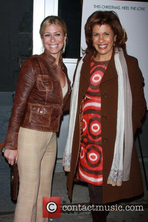 Hoda Kotb (r) and guest New York Premiere...