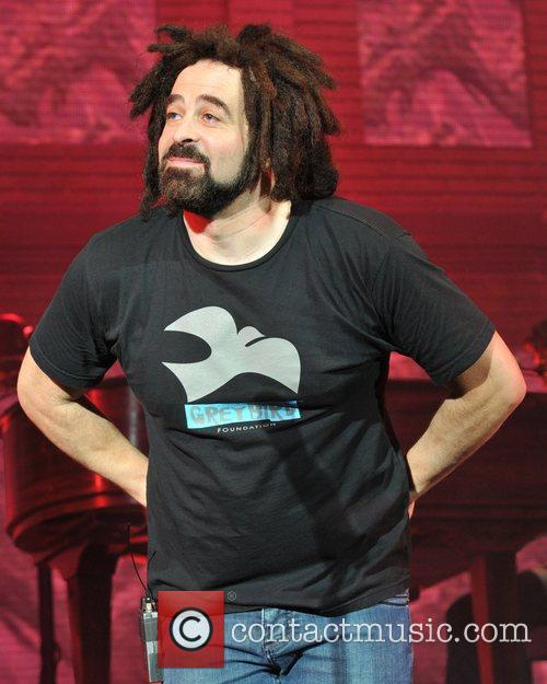Adam Duritz of the Counting Crowes performs live...