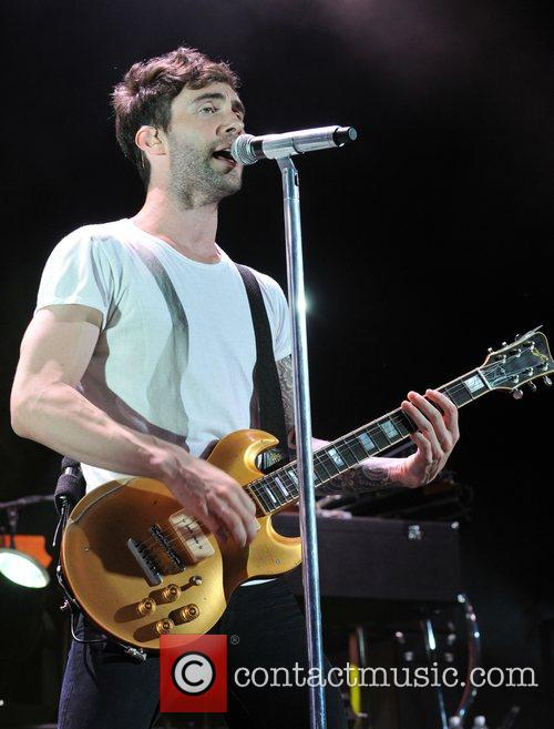 Adam Levine of Maroon 5 performs live on...