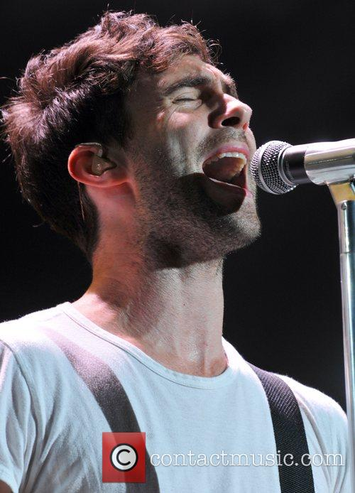 Adam Levine of Maroon 5 performs live on...