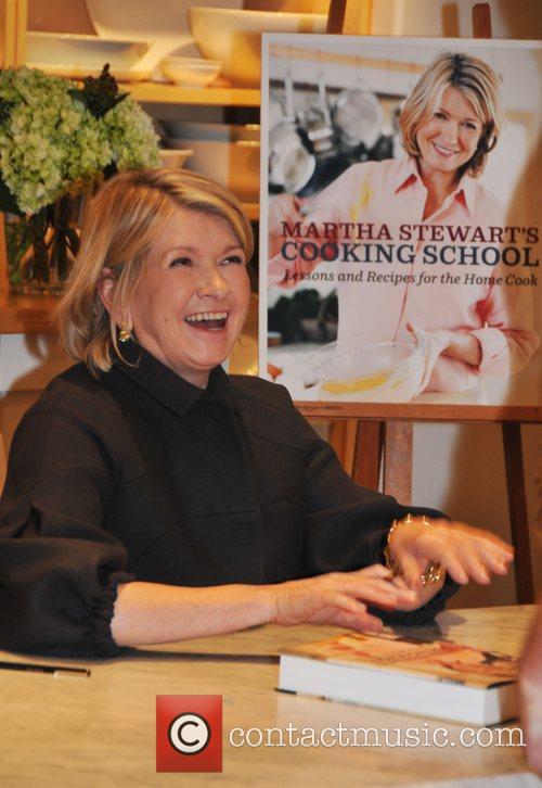 Martha Stewart signs copies of her new book,...