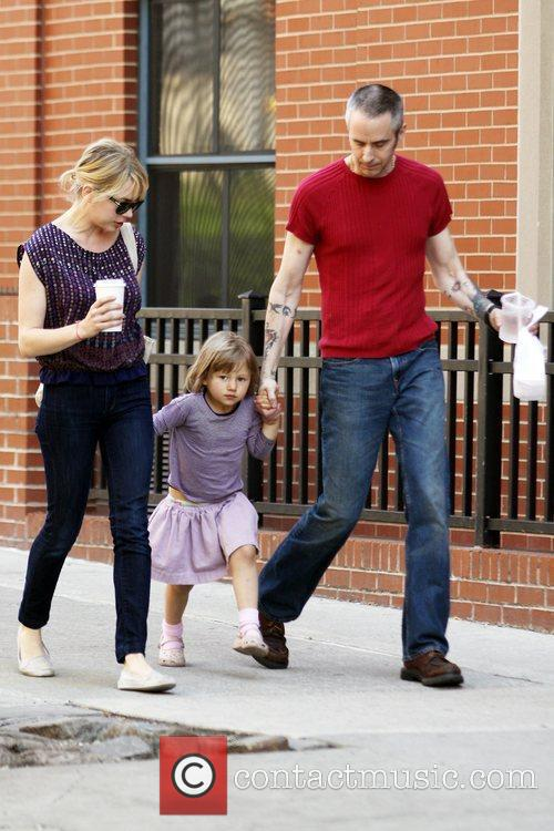 Michelle Williams, Matilda Ledger out, about in Brooklyn enjoying the warm weather. Matilda gets a lift from her mom and an older mystery male. 13