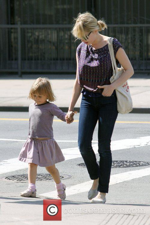 Michelle Williams, Matilda Ledger out, about in Brooklyn enjoying the warm. Matilda gets a lift from her mom and an older mystery male. 11