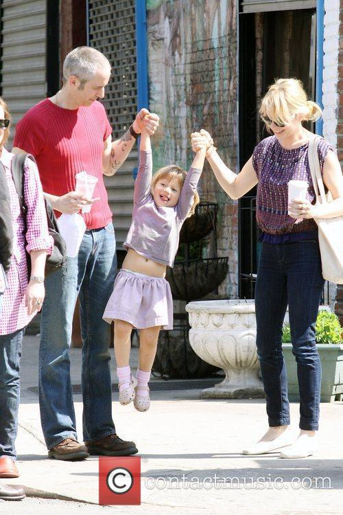 Michelle Williams, Matilda Ledger out, about in Brooklyn enjoying the warm. Matilda gets a lift from her mom and an older mystery male. 19