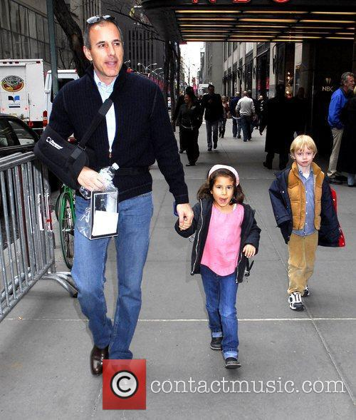 'Today' anchor Matt Lauer outside NBC Studios with...