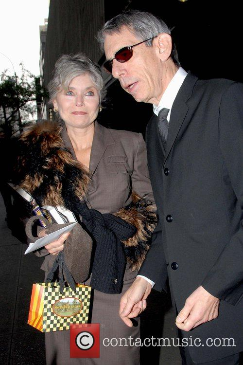 Harlee McBride and Richard Belzer leaving the celebrity...
