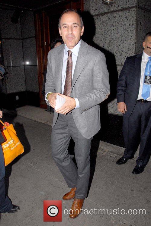 Matt Lauer  leaving the Friars Club where...