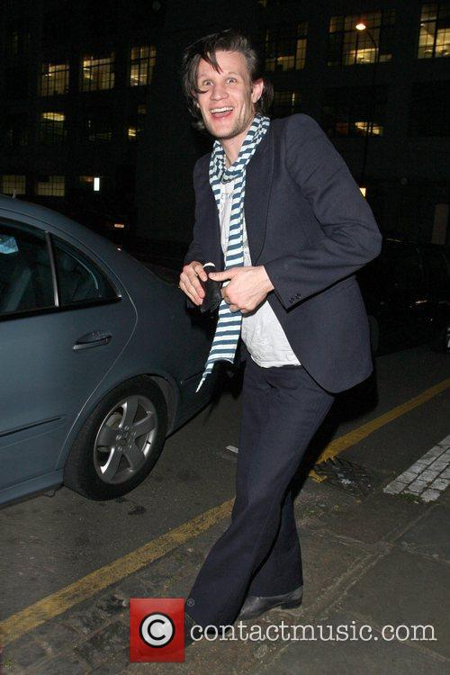 Matt Smith The new 'Time Lord' seen arriving...