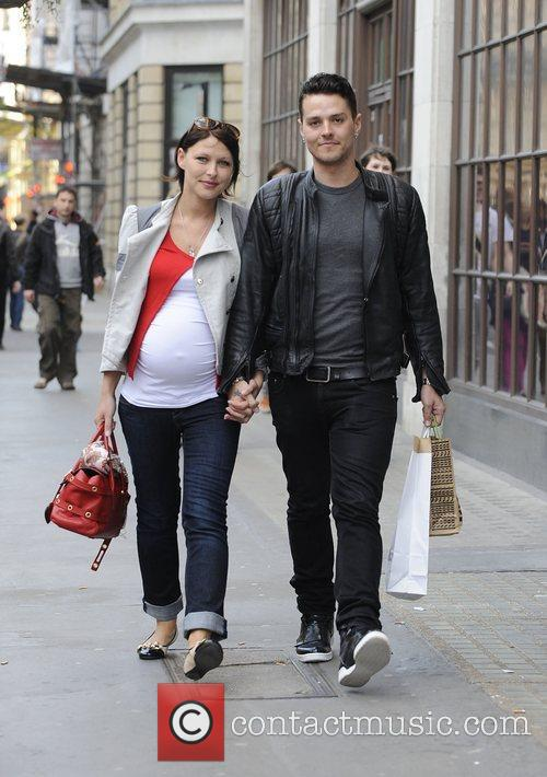 Matt Willis and a heavily pregnant Emma Griffiths...