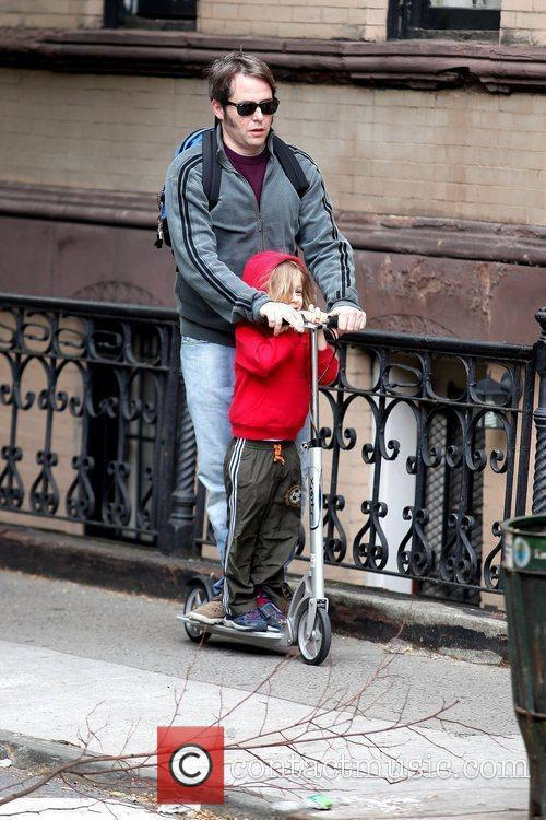 Matthew Broderick gives his son, James Wilkie Broderick,...
