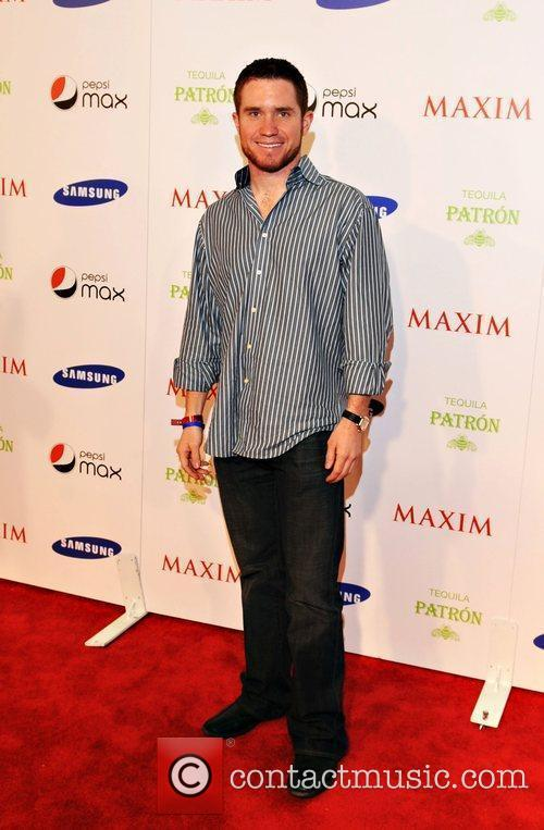 Brian Vickers Maxim magazine Superbowl party held at...