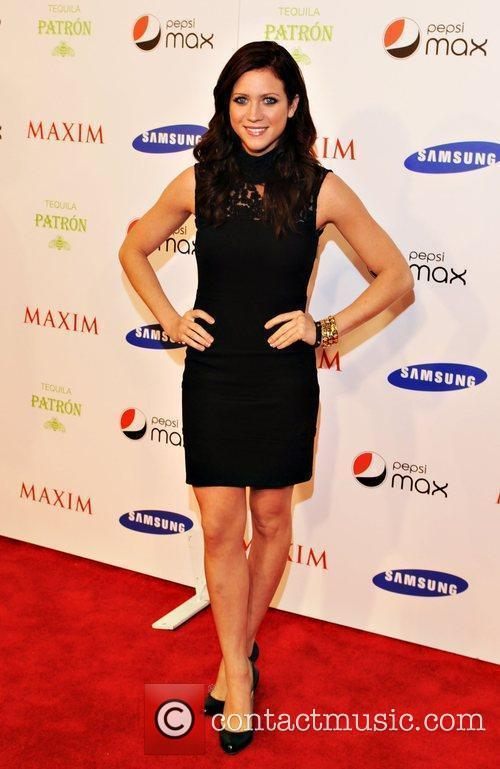 Brittany Snow Maxim magazine Superbowl party held at...