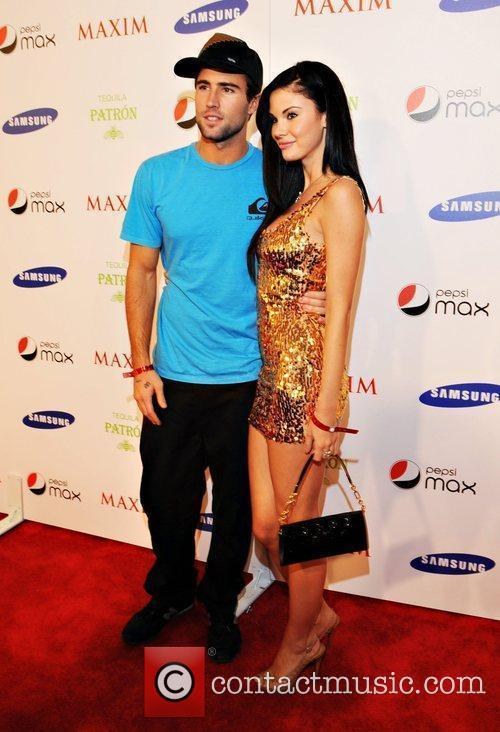 Brody Jenner and guest Maxim magazine Superbowl party...
