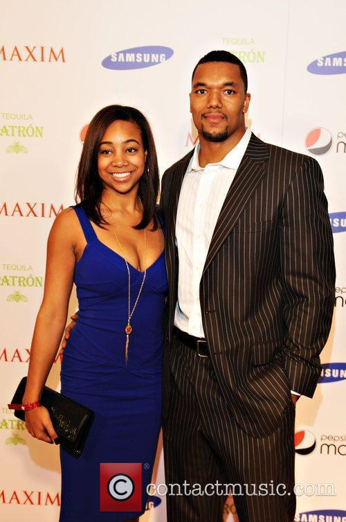 Gerris Wilkinson and guest Maxim magazine Superbowl party...