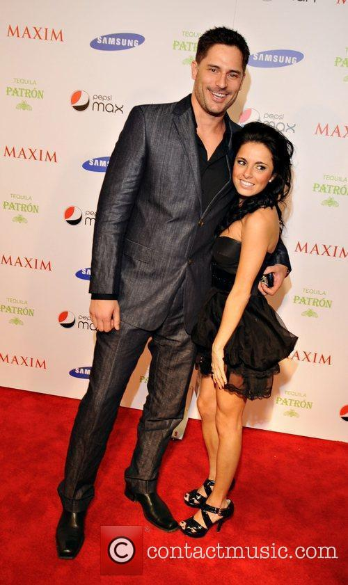 Joe Maganiello and guest Maxim magazine Superbowl party...