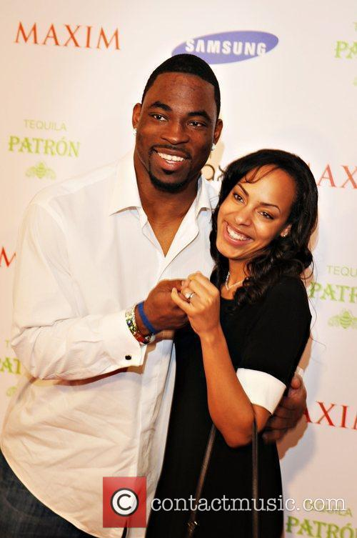 Justin Tuck with his wife Lauren Maxim magazine...
