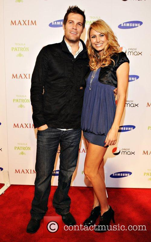 Stacey Keebler and gues Maxim magazine Superbowl party...
