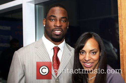 Justin Tuck of the NY Giants and wife...