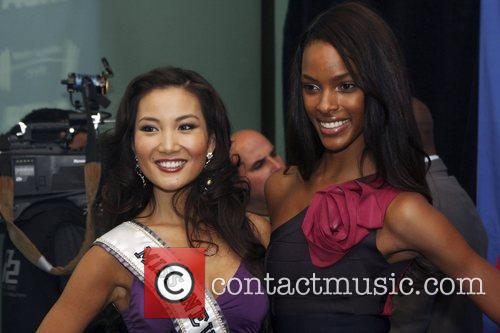Miss New York Tracey Chang and model Quiana...