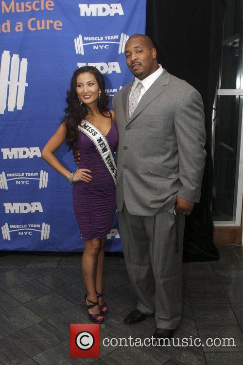 Miss New York Tracey Chang and Kris Jenkins...
