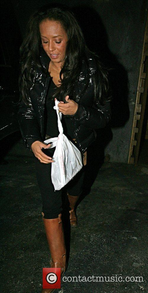 Melanie Brown and her family leave Sushi on...