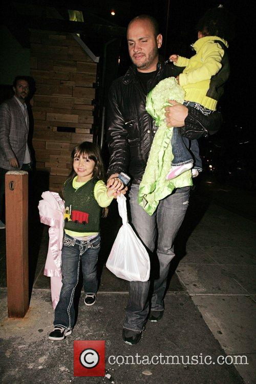 Stephen Belafonte and his family leave Sushi on...