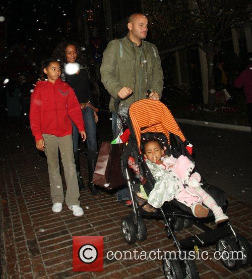 Melanie Brown and her husband Stephen Belafonte with...