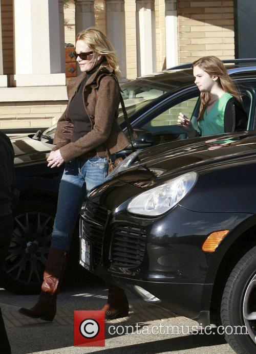 Melanie Griffith and her daughter Stella Banderas seen...