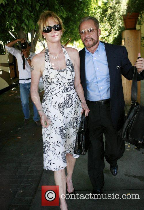 Melanie Griffith leaving Orso restaurant in Hollywod with...