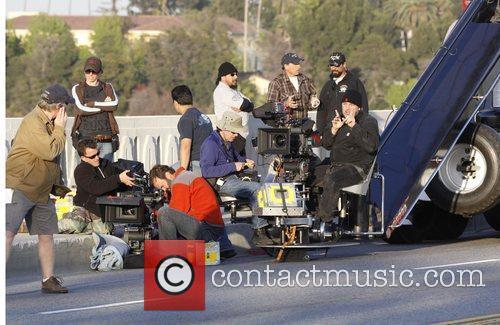Director Davis Guggenheim and Crew Filming on location...