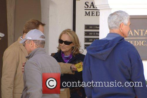 Meryl Streep on the set of her upcoming...