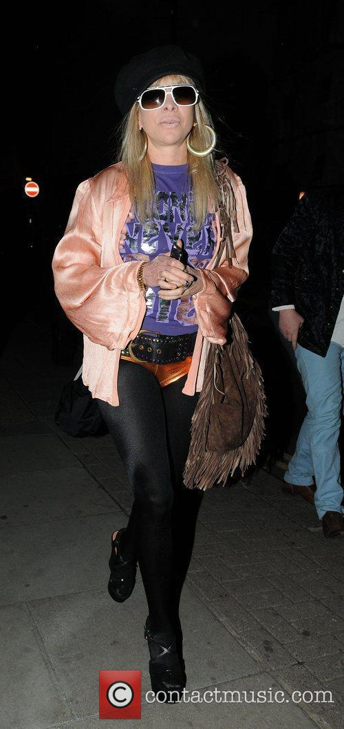 Jo Wood arriving at Met Bar for a...