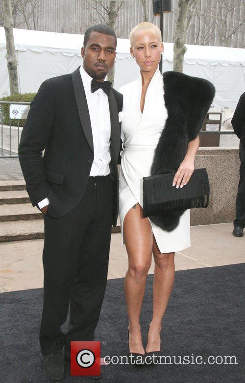 Kanye West and Amber Rose Metropolitan Opera 125th...