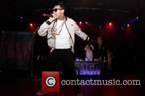 Tyga  performing live at Nokia Theatre in...