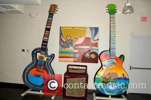 Giant Art Guitar display Miami Fashion Week Party...