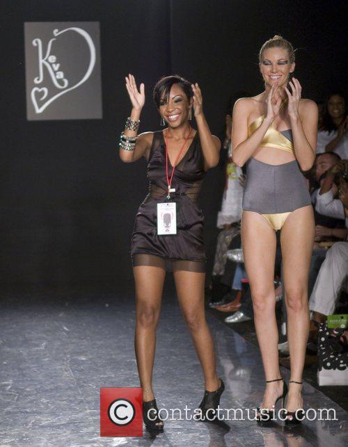 Keva swimwear designer Keva Johnson, left, and a...
