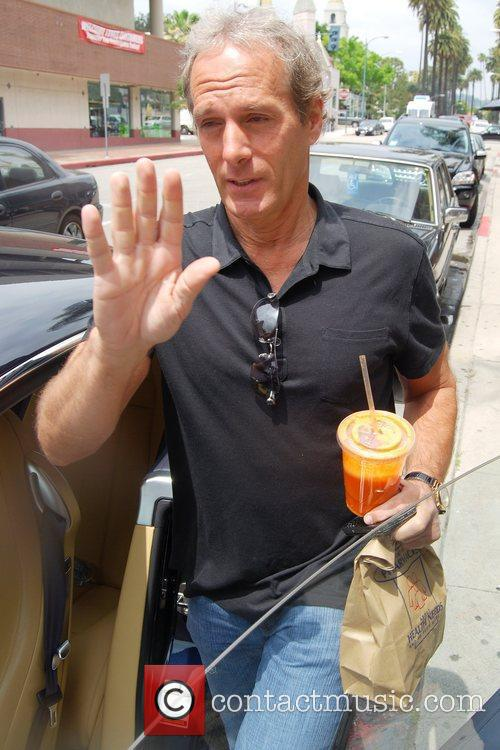 Michael Bolton spotted enjoying a carrot juice while...