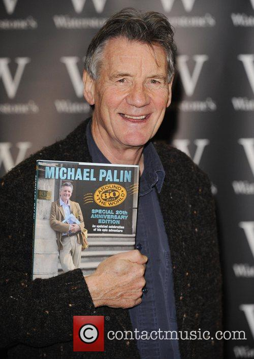 Michael Palin signs copies of his book 'Around...