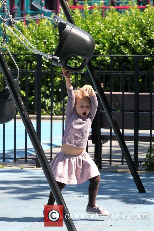 Matilda Ledger Enjoying A Sunny Day Playing At A Brooklyn Park With Her Mother 9