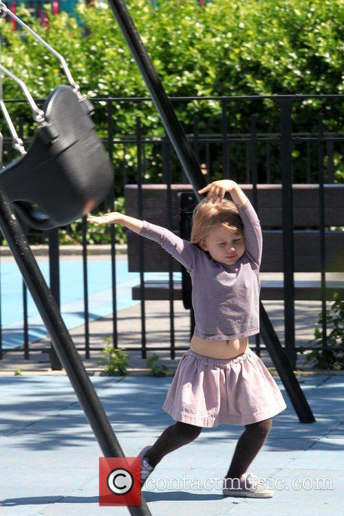 Matilda Ledger Enjoying A Sunny Day Playing At A Brooklyn Park With Her Mother 5