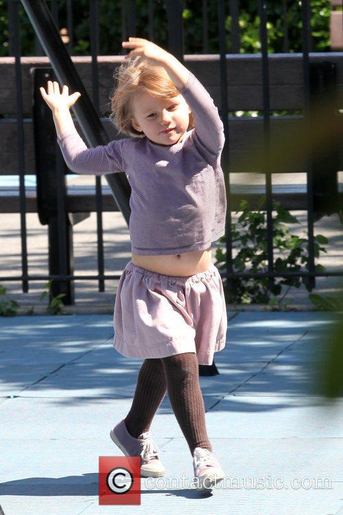 Matilda Ledger Enjoying A Sunny Day Playing At A Brooklyn Park With Her Mother 10