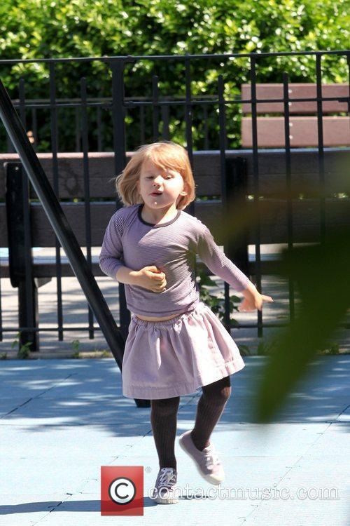 Matilda Ledger Enjoying A Sunny Day Playing At A Brooklyn Park With Her Mother 4
