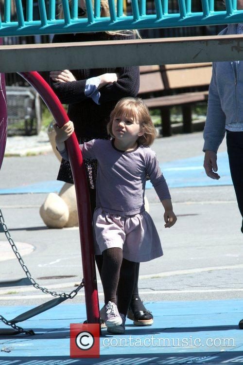 Matilda Ledger Enjoying A Sunny Day Playing At A Brooklyn Park With Her Mother 8